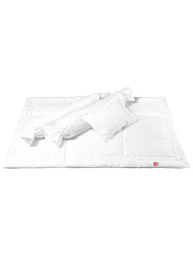 Zyji Luxury White Baby Bedding 7pc Set