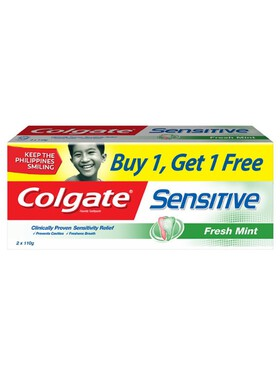 Colgate Sensitive Fresh Mint Toothpaste Twin Pack (110g)