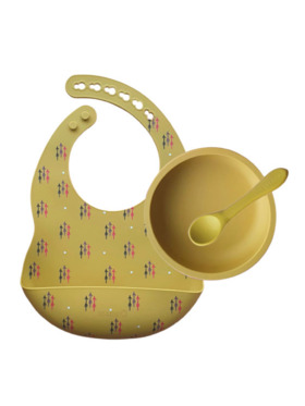 Tots & Kisses First Solids — Bib, Bowl, Spoon Set