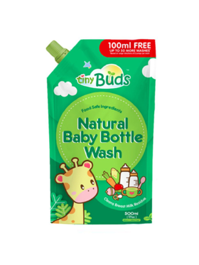 Tiny Buds Natural Baby Bottle Wash Refill (500 +100ml)