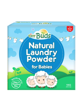 Tiny Buds Natural Laundry Powder For Babies (1kg)