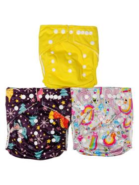 Next9 Girls Design Cloth Diapers (Set of 3)