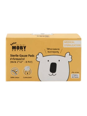 Baby Moby Sterile Gauze Pads (2 pads x 40 sterile packs)