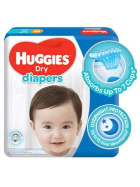 Huggies Dry Diapers Medium (70s)