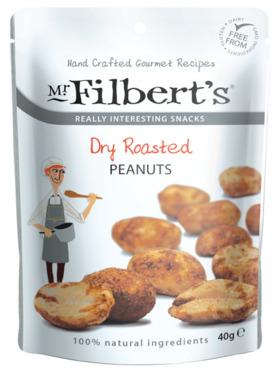 Mr. Filberts Dry Roasted Peanuts (40g)