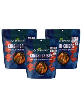 Oh So Healthy! Kimchi Crisps (set of 3)