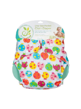 Baby Leaf Lady Bug Colors Cloth Diapers