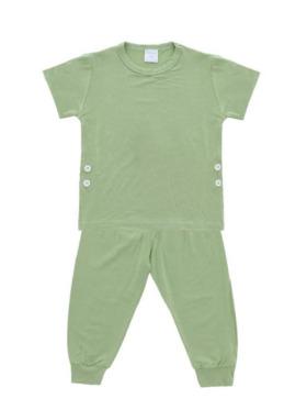 Bamberry Baby Toddler Plain Short Sleeves Pajama