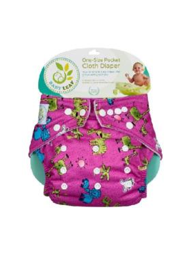Baby Leaf Pink Safari Cloth Diapers