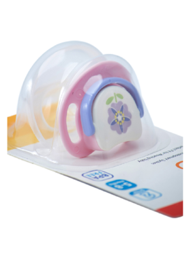 Pigeon Silicon Pacifier Step 2 Purple Flower