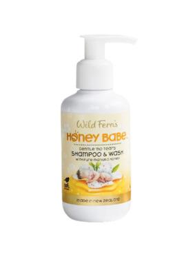 Wild Ferns - Honey Babe Shampoo & Wash (No Tears) with Pure Manuka Honey