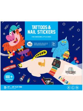 Joan Miro Temporary Tattoos & Nail Stickers