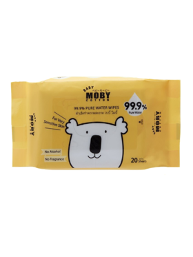 Baby Moby 99.9% Pure Water Wipes (20 sheets)