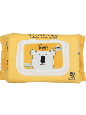 Baby Moby 99.9% Pure Water Wipes (80 sheets)