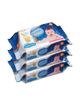 Combi Kuma-kun Deep Ocean Water Baby Wipes Pack of 3 (80 sheets)