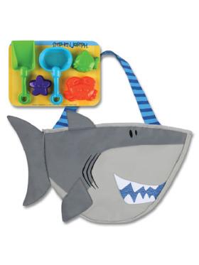 Stephen Joseph Shark Beach Tote with Sand Toys
