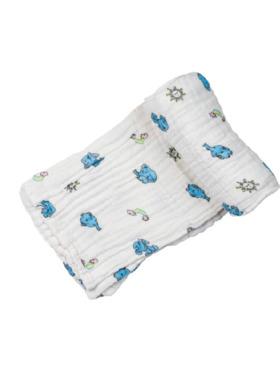 Swaddies PH Blue Elephants Multipurpose Muslin Cloth